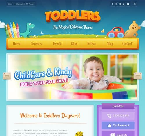 Toddlers – Kids, Child Care & Playgroup WordPress Theme