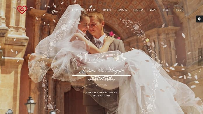 Wedding Suite – WordPress Wedding Theme