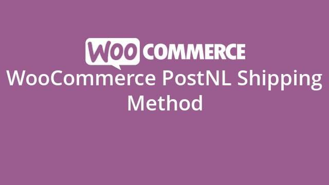 WooCommerce PostNL Shipping Method