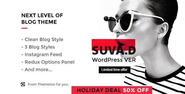 SUVAD – Personal Blog WP Theme