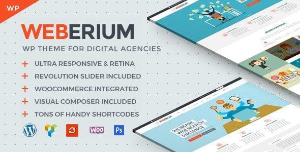 Weberium – Responsive WordPress Theme For Digital Agencies
