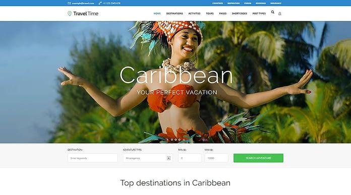 Travel Time – Tour Hotel & Vacation Travel WordPress Theme