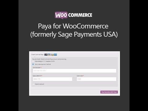 WooCommerce Paya Gateway (formerly Sage Payments USA)