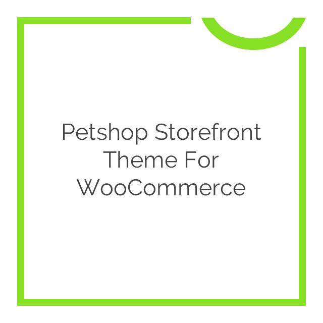 WooThemes Petshop Storefront WooCommerce Theme