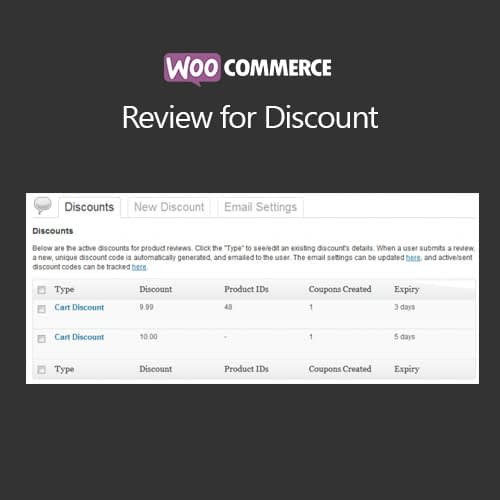WooCommerce Review For Discount Extension