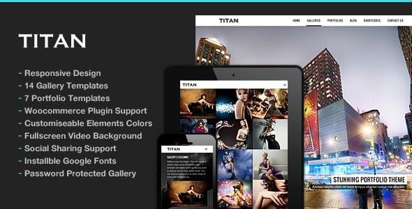 Titan – Responsive Portfolio Photography Theme
