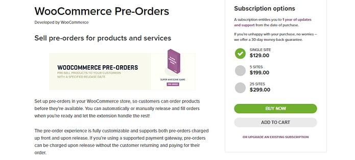 WooCommerce Pre Orders Plugin