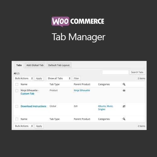 WooCommerce Tab Manager Extension