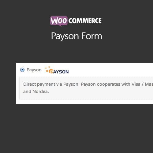 WooCommerce Payson Form Extensions