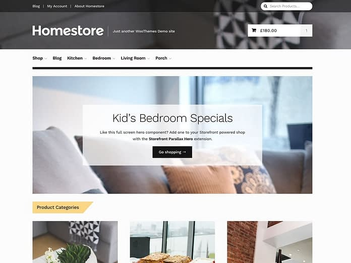 WooThemes Homestore Storefront WooCommerce Theme