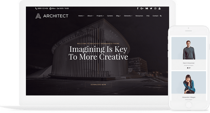 VisualModo Architect WordPress Theme