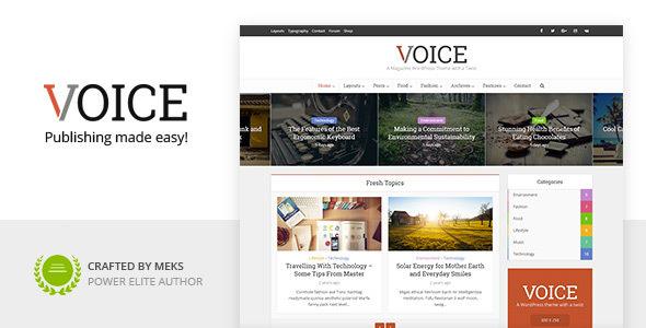Voice – Clean News Magazine WordPress Theme