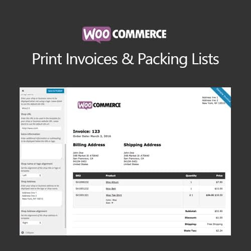 WooCommerce Print Invoice & Packing List