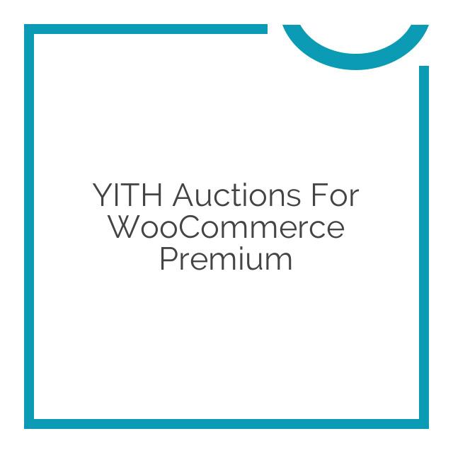 YITH WooCommerce Auction Plugin