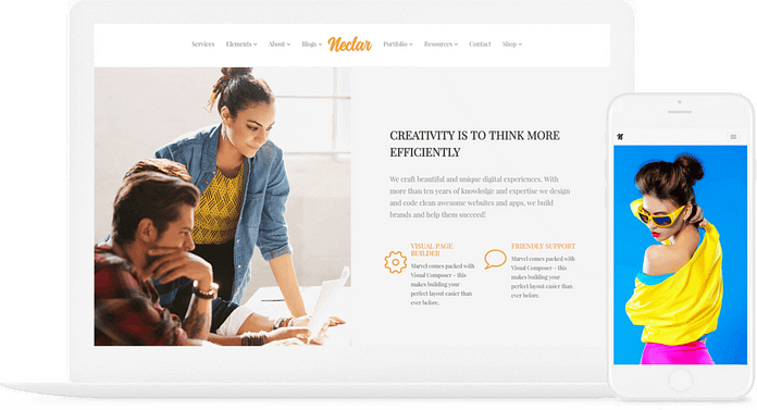 VisualModo Nectar WordPress Theme
